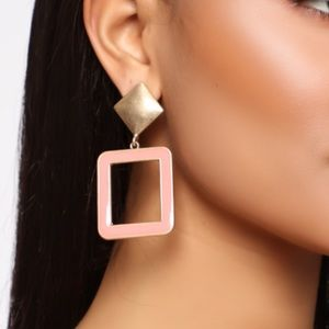 Orange 80s styled earrings